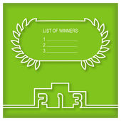 Winners podium template with list of winners — Stock Vector