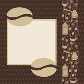 Coffee Set Background with  text place — Stock Vector