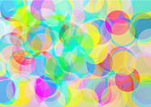 Background with abstract color bubbles — Stock Vector