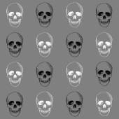 Hand drawn pattern with skulls — Stock Vector