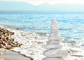 Close-up of pebbles stack — Stock Photo