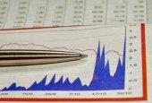 Informes de mercado de valores — Foto de Stock