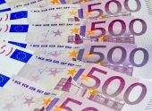 Euro banknotes, five hundred — Stockfoto