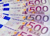 Euro banknotes, five hundred — Zdjęcie stockowe