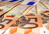 Euro banknotes, fifty — Stockfoto