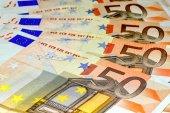 Euro banknotes, fifty — ストック写真