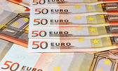 Euro banknotes, close-up — Stockfoto
