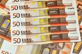 Banknoty euro, szczegół — Zdjęcie stockowe