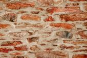 Wall of red stone, backgrounds — Stock Photo