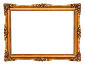 Vintage Gold Picture Frame — 图库照片