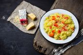 Risotto with cheese and pepper — Stockfoto