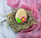 Easter cookie in shape of egg — Stock Photo