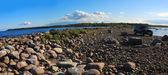 Jeep Wrangler , lake Ladoga ,Russia — Stock Photo