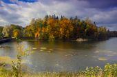 Autumn landscape, Russia — Stock Photo