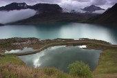The lake of Mont Cenis, France — Stock Photo