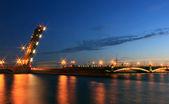 Trinity bridge, St. Petersburg ,Russia — Stockfoto