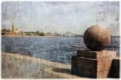 Vintage foto van Sint-Petersburg — Stockfoto