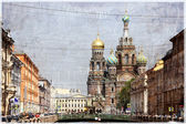 Vintage photo of Saint Petersburg — Stock Photo