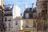 Vintage photo Paris — Stock Photo