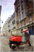Vintage photo Paris — Fotografia Stock