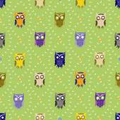 Pattern with cute owls — Stock Vector