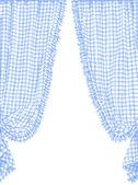 Checked curtain — Stock Vector