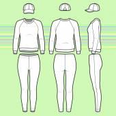 Sweatshirt, cap and leggins set — Stock Vector