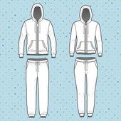 Hoodi and sweatpants set — Stock Vector
