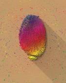 Huella del arco iris digital — Vector de stock