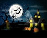 Happy Halloween Poster. Vector illustration. — Stock Vector