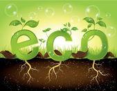 Eco concept — Stock Vector