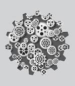 Gearwheel mechanism background. Vector illustration — Stock Vector