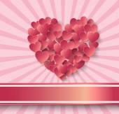 Etiqueta de papel de coração — Vetor de Stock