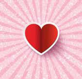 Heart Paper Sticker — Stock Vector