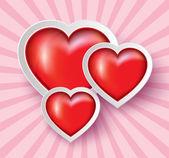 Heart Paper Sticker .vector illustration — Stock Vector