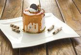 Fetta di torta al caramello — Foto Stock
