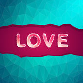 Abstract love vector illustration background — Stock Vector