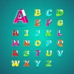 Isometric alphabet font.Capital letter A, B, C, D, E, F, G, H, I — Stock Vector #63349851