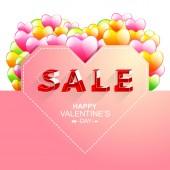 Sale.letter Valentýna v izometrickém stylu. — Stock vektor