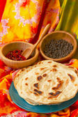 Indian flat bread and  — Stockfoto