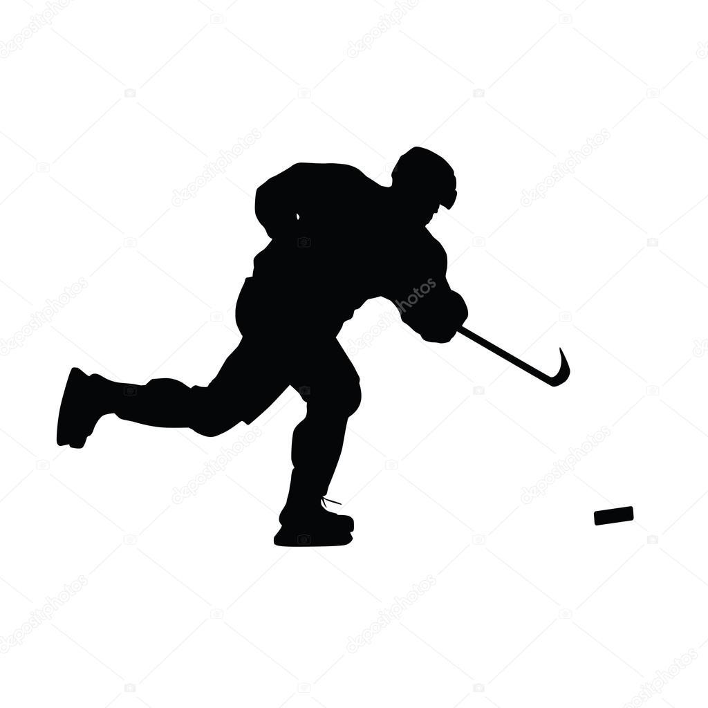 Hockey player vector
