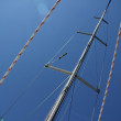 Travel on a boat. The main mast yacht — Stock Photo #52067859