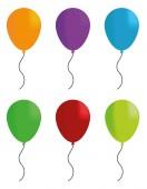 πολύχρωμα μπαλόνια αστεία εικονογράφηση φορέας — Διανυσματικό Αρχείο