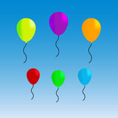 Vector illustration of colorful funny balloons — Vettoriale Stock