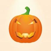Disegno di zucche intagliate per halloween vettoriale — Vettoriale Stock