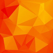 Abstract background of triangles. The bright orange color — 图库矢量图片