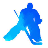 Abstract blue hockey goalkeeper — Stock Vector