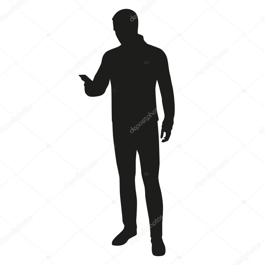 Back Light Silhouette Man Standing On Stock Photo Edit