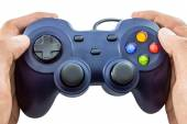 Video game controller on white background — Stock Photo