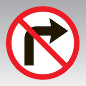 Do not turn right traffic sign — Stock Vector